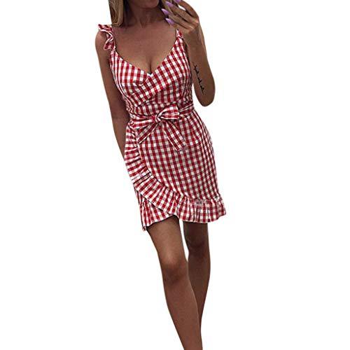 Vectry Vestidos De Playa Cortos Vestidos De Verano 2019 Vestido Tirante Ajustado Vestidos Estampados Cortos Vestidos Casual De Mujer Vestido Escote V Profundo Vestido