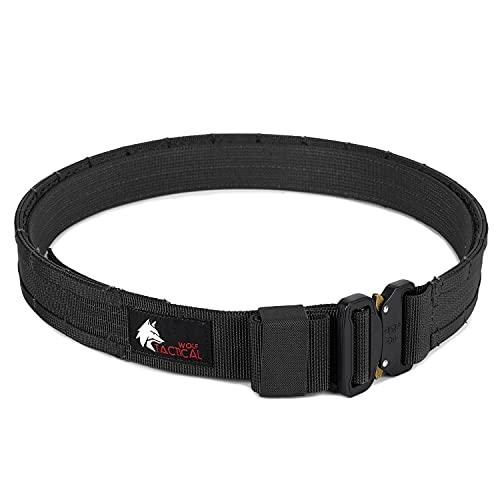 """WOLF TACTICAL Molle Duty Belt - Duty Belts Law Enforcement Battle Belts Tactical Gun Belt 1.75"""" Quick Release Combat Belt"""