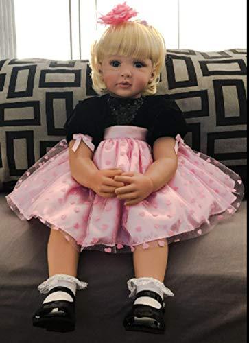 Zero Pam Binxing Toys Reborn Dolls 24 inch Real Life Size Reborn Toddlers Dolls Blonde Hair Princess Girls Xmas Gifts Toys Passed EN71&ASTM F963