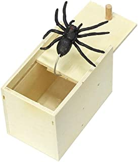 石歩理 びっくり箱 整蛊おもちゃ 飛び出す 蜘蛛 おもちゃ エイプリルフールの日 整蛊玩具 恐怖ボックス 悪ふざけ 木箱動物恐怖 ジョークおもちゃ ドッキリ玩具 面白い プレゼント パーティー用品 パーティー ジョークグッズ