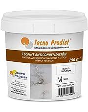 TECPINT ANTICONDENSACIÓN door Tecno Prodist - (750 ml) - Anticondens- en schimmelwerende verf op waterbasis voor binnen en buiten - Muren en plafonds - grote dekking - Eenvoudig aan te brengen - (WIT)