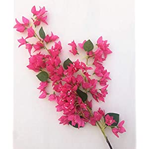 jiumengya 4pcs Long Bougainvillea Artificial Floor Mounted Fake Large Size Bougainvillea Flower 118cm for Wedding Centerpieces Decorative Flower (deep Pink)