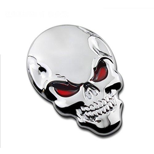 WINOMO Auto Aufkleber Totenkopf Skull Autoaufkleber 3D Metall Schädel Autoaufkleber Auto Styling Dekoration