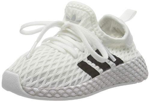 adidas Unisex-Kinder Deerupt Runner I Fitnessschuhe, Weiß (Blanco 000), 25 EU