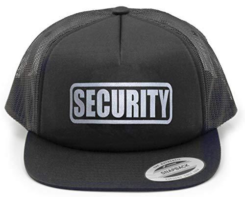 Conspiracy Tee Security Hat, Security Cap, Party Bouncer, Security Guard, Reflective Imprint. Black