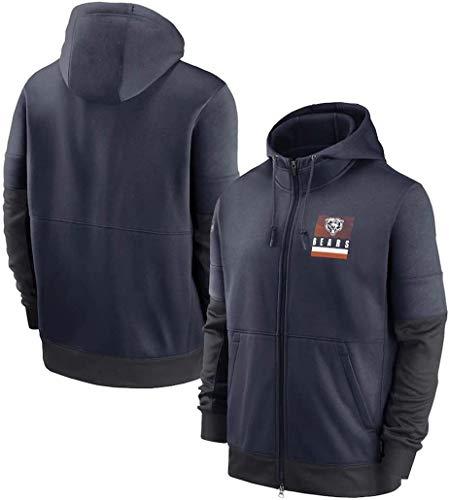 NFLSHX LGG - Sudadera para hombre, diseño de oso de Pittsburgh de fútbol americano con capucha para entrenamiento de fans (color: G, tamaño: pequeño)