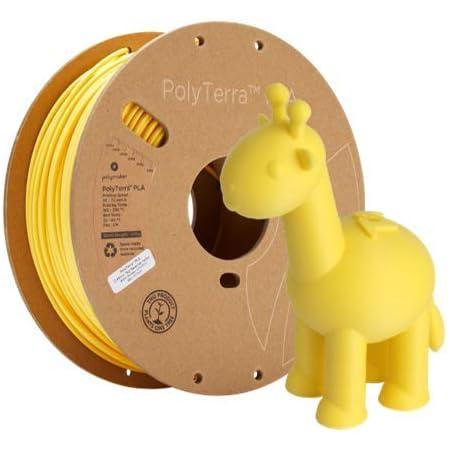 Polymaker PolyTerra PLA Bioplastic Based 3D Printing Filament, Matte PLA Filament, 1.75mm Filament Savannah Yellow 1000g(2.2lb), Fit Most FDM Printer