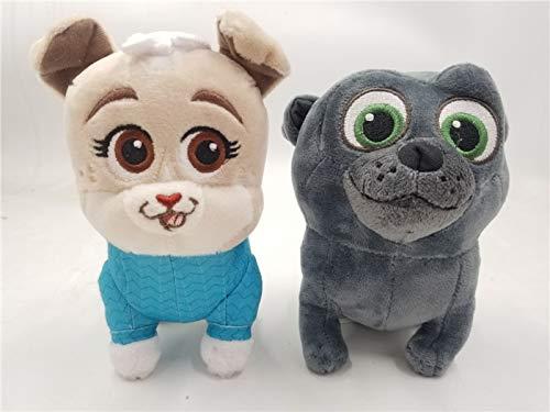 Juguete para Perros Animal Cartoon, Anime, auténtico Junior Bingo Pug Puppy Dog Pals Plush Toy Doll C