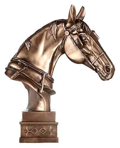 LIUBINGER Escultura Estatua de la Cabeza de Caballo, Horse Bush Escultura Ornamentos Animales Muebles Grandes Inicio Oficina Decoración Frío Cast Bronce Sculpture Artwork Craft Modelo Manualidades