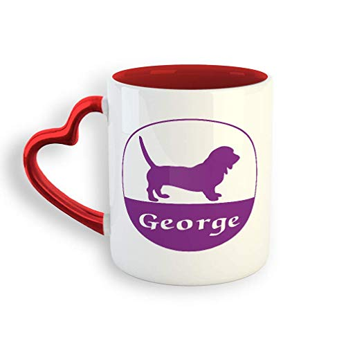 VTXINS Gepersonaliseerde naam dierpets keramische Valentine's Day Coffee Mok 11 Oz