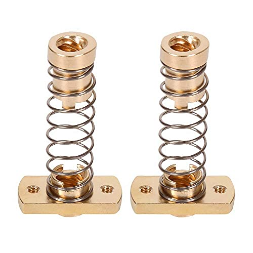 Mungowu 2 Sets CR10 Z Axis T8 Anti Backlash Spring Loaded Nut Elimination Space Brass Nuts for Upgrade Ender 3S Ender 3