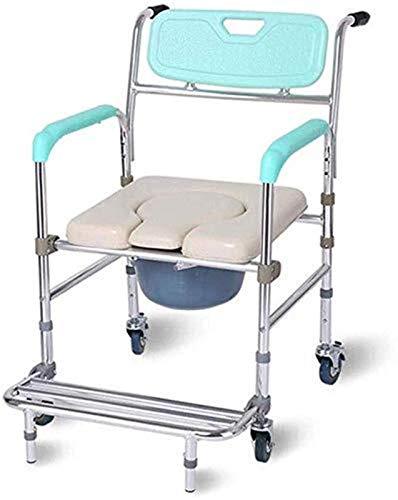 Pyrojewel Silla de baño for los ancianos con una silla de ruedas/plegable...