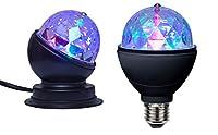 Rotierende Discokugel, Rotation 360°! Diese rotierende Discokugel ist die perfekte und unkomplizierte Beleuchtung für Ihre nächste Party. Sie ist erhältlich als Standkugel, auch zur Wandmontage möglich und als Glühbirne für Lampenfassung E27. Genaue ...