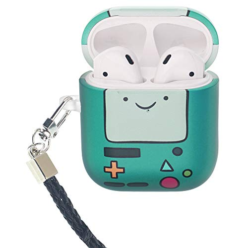 Adventure Time Compatible with AirPods Case Neck Lanyard Protective Hard PC Shell Strap Hole Cover - Lovely BMO