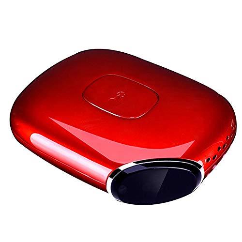 Mini Car Luchtreiniger voor in de auto, voor het verwijderen van schadelijke stoffen zoals stof, bacteriën en pollen no home charger rood