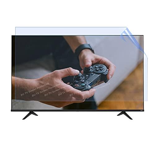 BU TV Screen Protectors 43'-65' Monitor Monitor Anti Glare Protección De Pantalla Máquinas De Juego Accesorios, Anti-UV, Anti-Rasguño, Bloques 96% UV Luz Azul, Interior Y Exterior,50' 1101 * 620