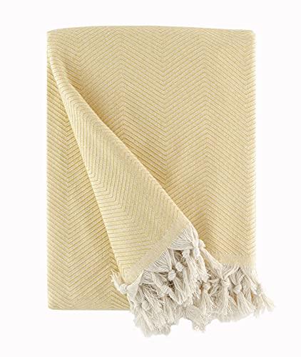 BOHORIA® Premium Tagesdecke Tulum - Bettüberwurf Wohndecke Wendedecke Kuscheldecke Sofadecke mit Muster | extra-groß 170 x 230 cm (Tuscan Sun)