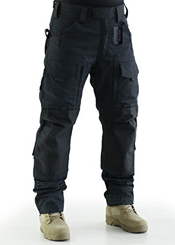 ZAPT Tactical Pants Molle Ripstop Combat Trousers Hunting Army Camo Multicam Black Pants for Men (Solid Black, M)