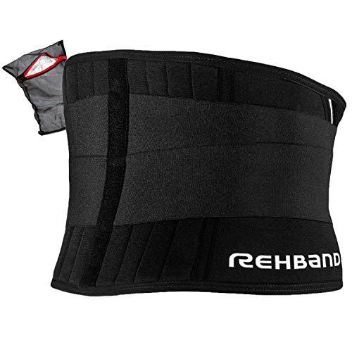 Rehband UD X-Stable Back Support Rückenstütze Unisex inkl. Ziatec Wäschenetz, Größe:L, Farbe:schwarz