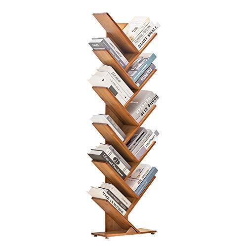 AMBM Bücherregal Raumteiler Standregal Holzregal Regal 44x20x106cm,Massivholzmaterial