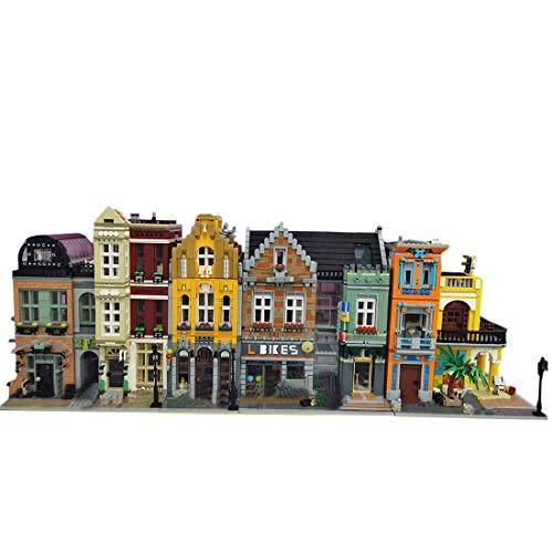 KEAYO Bloques de construcción para casa, juego modular 4 en 1, 13.500 piezas de bloques de construcción, modelo de casa, compatible con casa Lego.