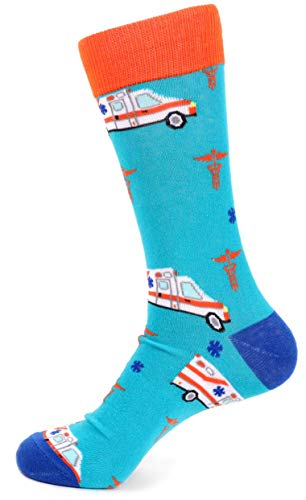 Men's Fun Ambulance Theme Socks