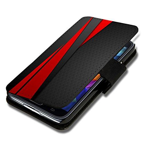 sw-mobile-shop Book Style Flip Handy Tasche Case Schutz Hülle Schale Motiv Etui für Wiko Ridge Fab 4G - Flip 1X3 Design8