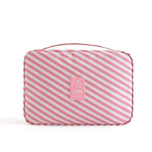 Travel Waterproof Portable Women Cosmetic Organizer Pouch Hanging Wash Bags Man Toiletry Bag Cute Makeup Neceser Maquillage Large Pink