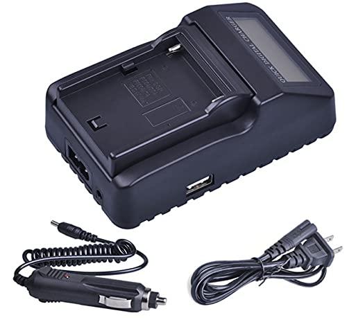 HANXIAOLONGA Cargador de batería rápido con Doble Pantalla LCD para Sony NP-F330, NP-F530, NP-F550, NP-F570, NP-F750, NP-F770, NP-F930, NP-F950, NP-F960, NP-F970 (Color : 1x LCD Quick Charger)