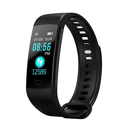 Cyond Sportuhren/Fitness Tracker/Vibrationsalarm/Pulsmesser/Entfernung/kalorie Uhr/Schlafüberwachung/Bluetooth Smartwatch/Smartwatch für Herren Damen/für IOS/andorid (Schwarz)