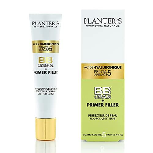 Planter s - BB Cream Penta 5 Acido Ialuronico + Primer Filler. Effetto filler anti-età e antirughe grazie ai 5 acidi ialuronici. Protezione solare UVA UVB. 40 ml.