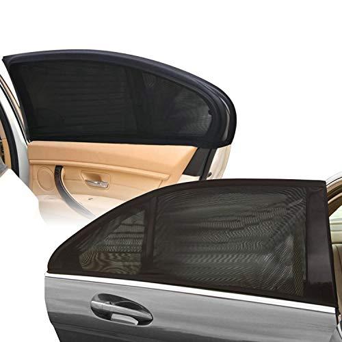 Hengda Auto Seitenfenster Sonnenschutz (2 STÜCK), Aktualisiert Doppelseitiges Sonnenblende fürs Autofenster zum UV-Schutz und Verdunkelung für Babys, Kinder und Haustiere