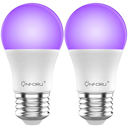 Onforu Lot de 2 Ampoule LED UV, E27 Ampoules Lumière Noire L