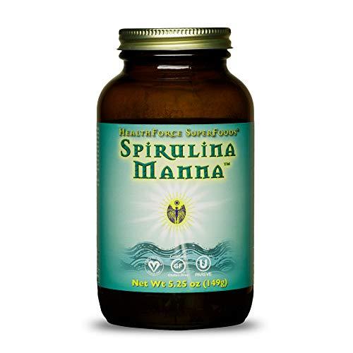 HealthForce SuperFoods Spirulina Manna - 5.25 oz Spirulina Powder - All Natural Nutrient Rich Superfood with Vitamins, Minerals & Amino Acids - Organic, Vegan, Gluten Free - 62 Servings