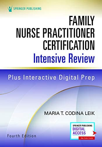 Family Nurse Practitioner Certification Intensive Review Fourth Edition Comprehensive Exam Prep product image