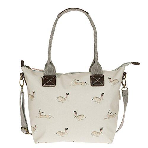 Sophie Allport - Mini borsa in tela cerata con motivo lepre