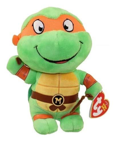 Pelúcia Michelangelo Tartarugas Ninjas Ty Beanie 15cm