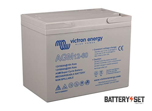 Victron Energy AGM 12V 60Ah Super Cycle Batterie C20 BAT412060081