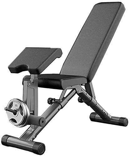 Cnley Banco de pesas ajustable de 90 °, banco de pesas ajustable, banco de pesas plegable, banco de pesas ajustable, para ejercicios verticales, inclinaciones, declinaciones y ejercicios planos