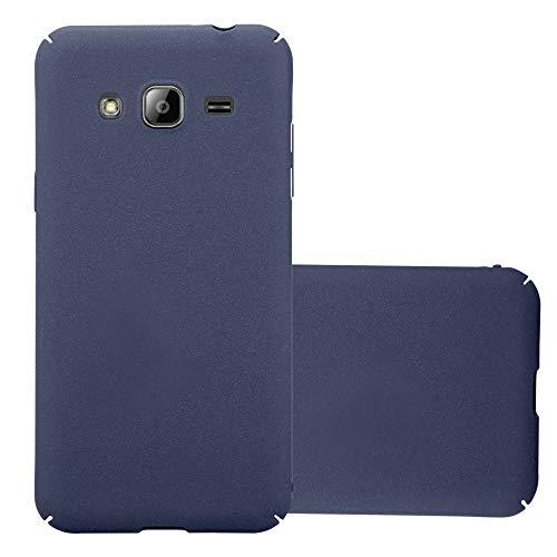 Cadorabo Custodia per Samsung Galaxy J3 2017 in Frosty Azzurro - Rigida Cover Protettiva Sottile con Bordo Protezione - Back Hard Case Ultra Slim Bumper Antiurto Guscio Plastica