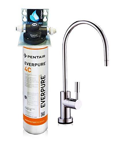 Wasserfilter System ForHome® EasyPure für die küche Mikrofiltrations Wasser Ultrafilter Anlage unter der Spüle Wasseraufbereiter Wasserfilter Untertisch Everpure 4C