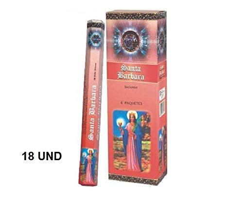 Andrea Collection - Incienso Santa Barbara, 6 paquetes de 20 varillas