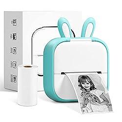 【Comment utiliser】: Imprimez uniquement en noir et blanc. Connectez l'imprimante de poche rechargeable Memoking T02 à vos appareils iOS ou Android via Bluetooth dans l'application «Phomemo» en cliquant sur «non connecté» dans le coin supérieur droit ...