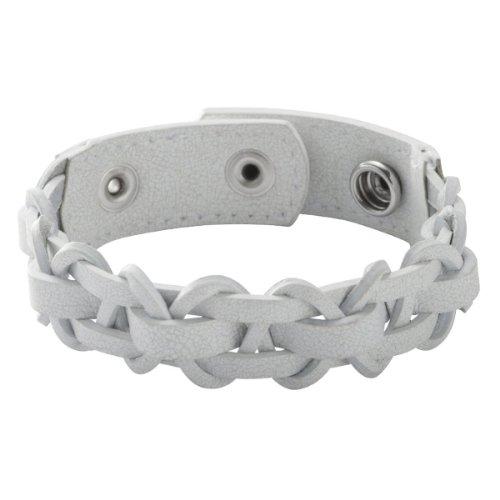 Fossil Herren-Armband Leder weiss JF86203040