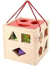 Babyspeelgoed, geometrieblokken Maching-speelgoed, 5 * 15 * 15,5 cm vroeg educatief speelgoed voor baby kinderen kinderen onderwijs