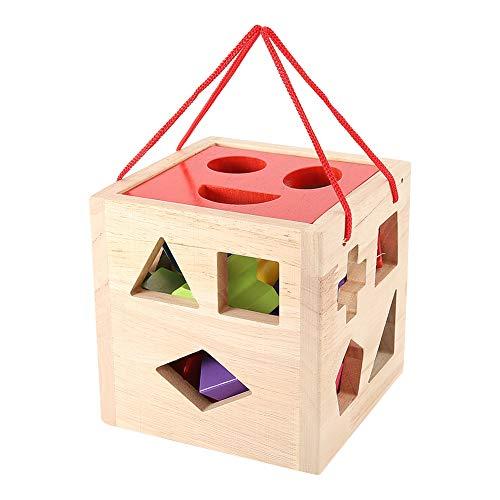 Pssopp Clasificador de Formas Clasificador de Formas de Cubo Bloque de construcción geométrico Niños Niños Pequeños Juego Educativo temprano Jugar Juguete de Regalo para niño o niña