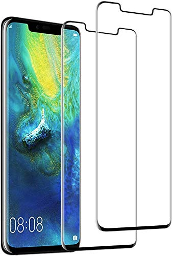 Wlife [2 Stück Panzerglas Schutzfolie Kompatibel mit Huawei Mate 20 Pro, Anti-Ol, HD, 9H, Anti-Blasen und Fingerabdruck, Einfaches Anbringen, Kratzer Displayschutzfolie, Perfekt Panzerglasfolie