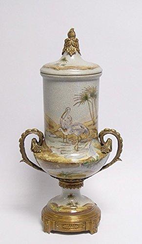 Ellas-Wohnwelt Porzellangefäß Porzellanvase Rokoko Vintage Antik Bronze Vase HxB 46x 24,5 cm