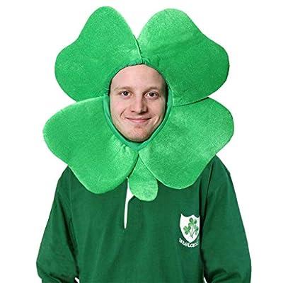 Unisex Adult Green Irish Adult Funny Shamrock Headband Headpiece Festival Hat Headdress For St. Patrick's Day Decor