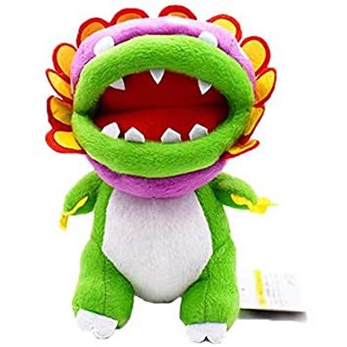 Jpenxv Super Mario Bros.Planta piraña de Felpa Comiendo Flor de Peluche de Juguete de Peluche de Juguete de Peluche de Dibujos Animados para niños Regalo de Animales 21Cm